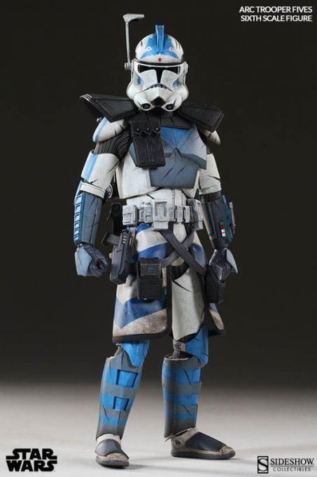Lego Star Wars Custom Arc Commander Fives Phase 2 armor