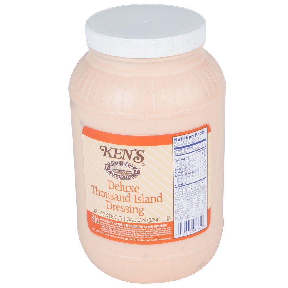 Ken S Foods 1 Gallon Deluxe Thousand Island Dressing Thousand Island Dressing Stuffed Peppers Thousand Islands