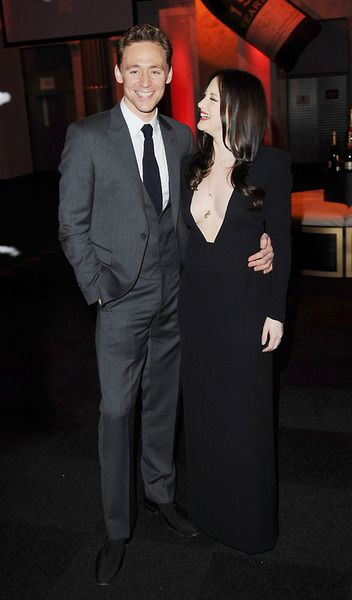 Tom Hiddleston and Andrea Riseborough attend the Moet British Independent Film Awards at Old Billingsgate Market on December 9, 2012 in London, England
