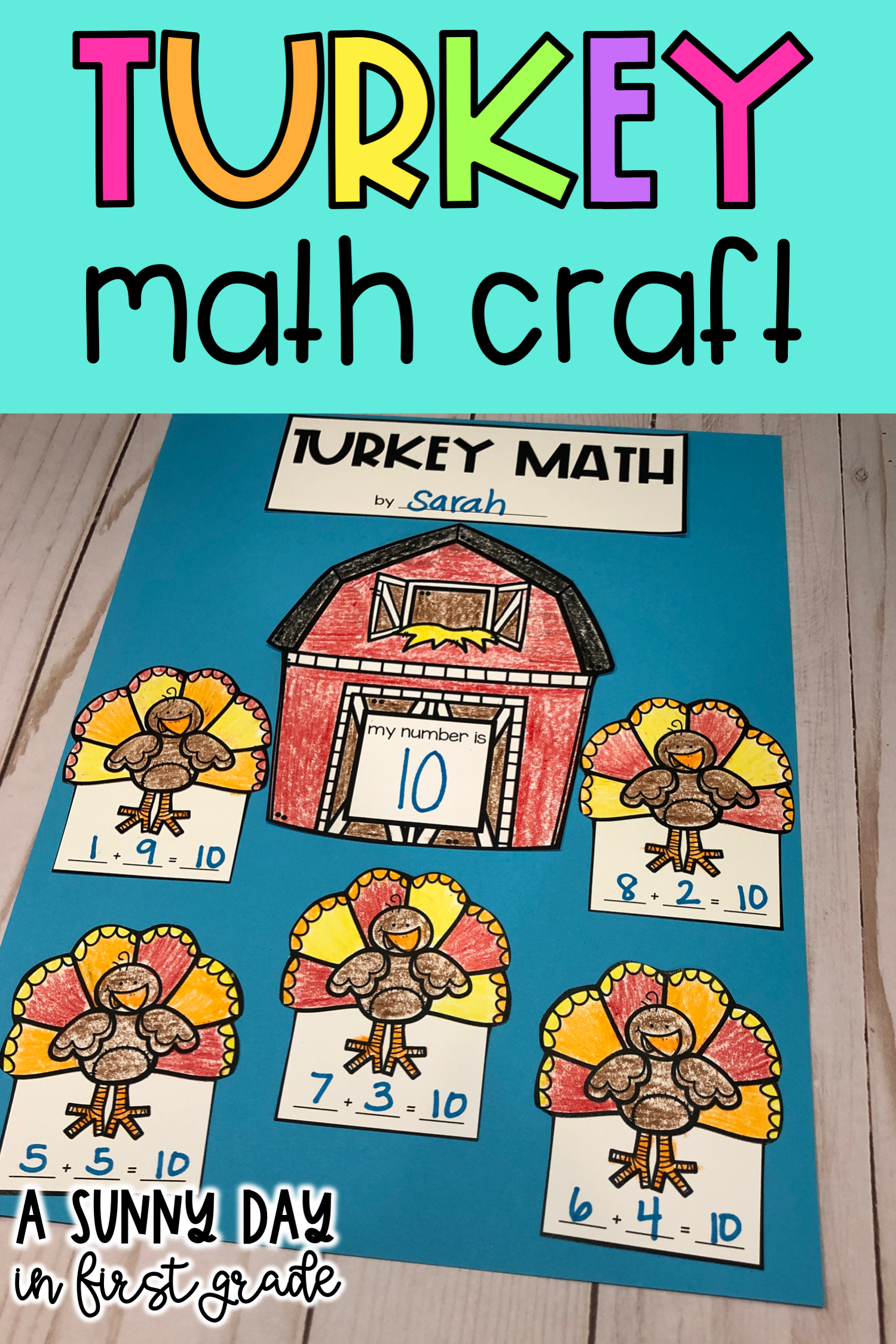 Turkey Addition Or Subtraction Math Craft