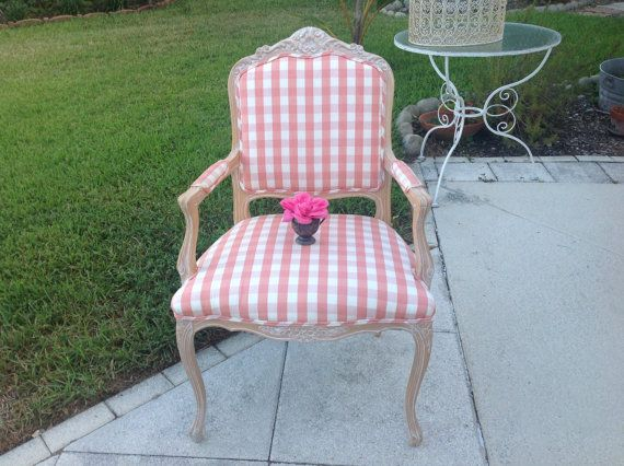 vintage bergere chair pink and white bergere by retrodaisygirl rh pinterest com