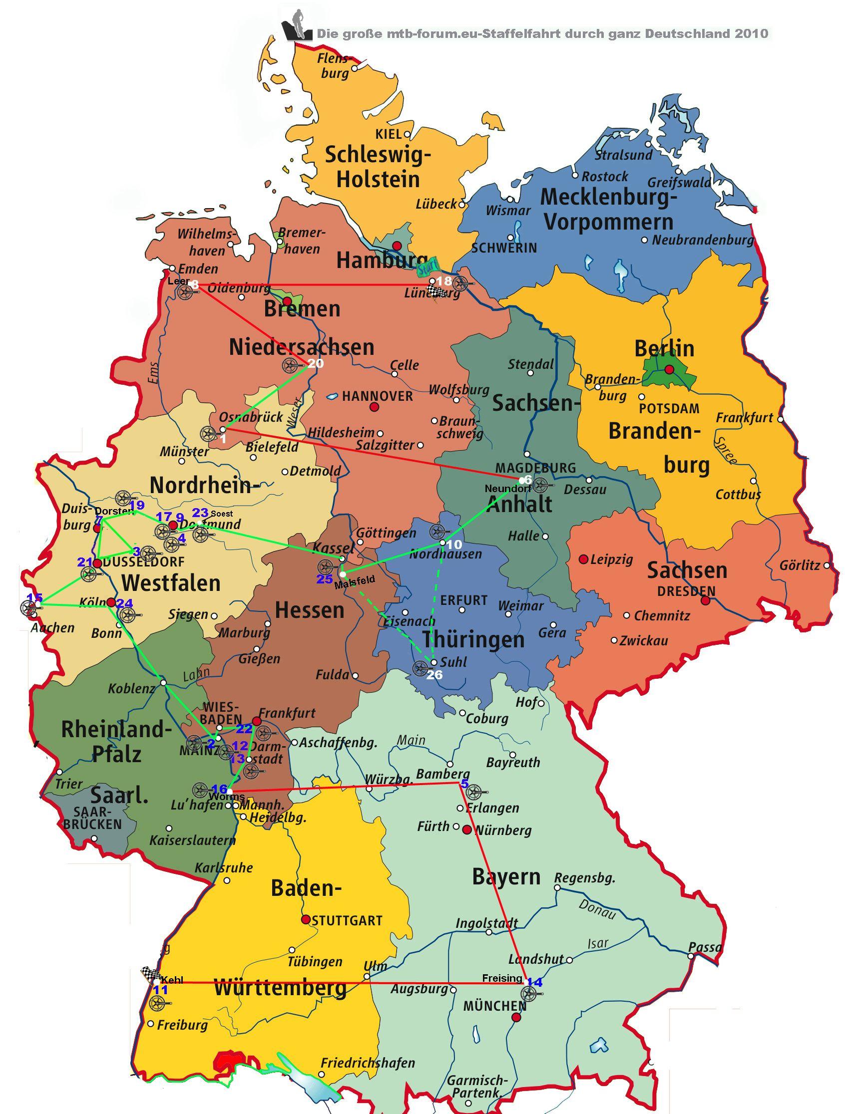 eine karte von deutschland koblenz karte deutschland #deutschland #karte #koblenz | Karte