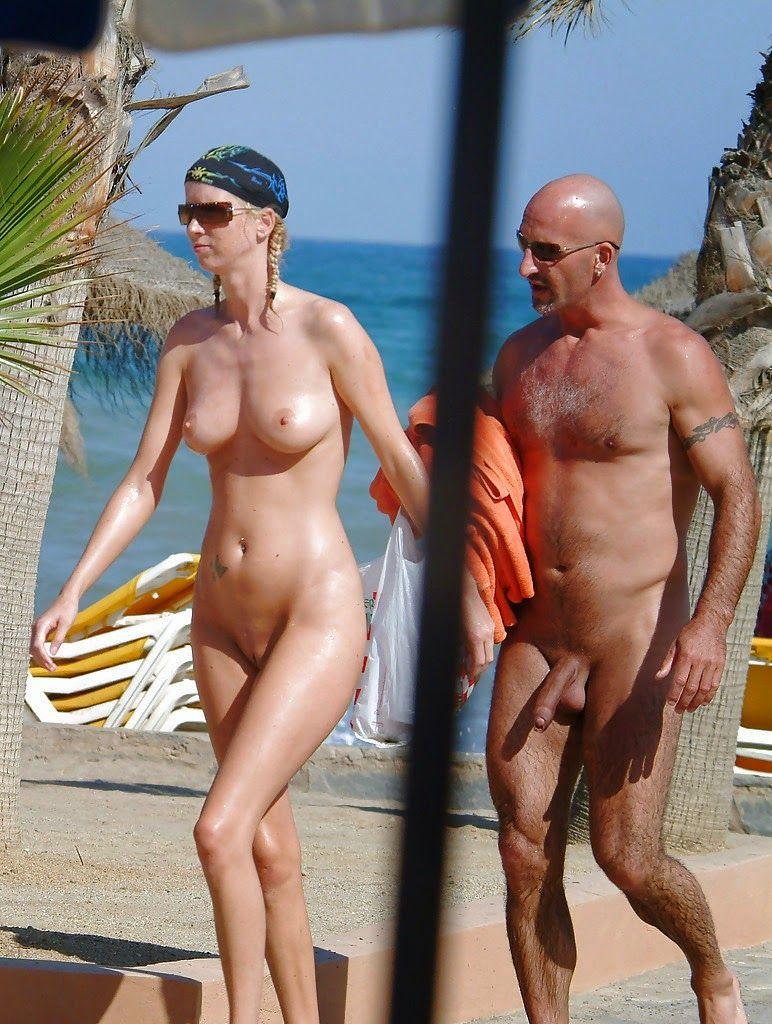 on Nude beach couples