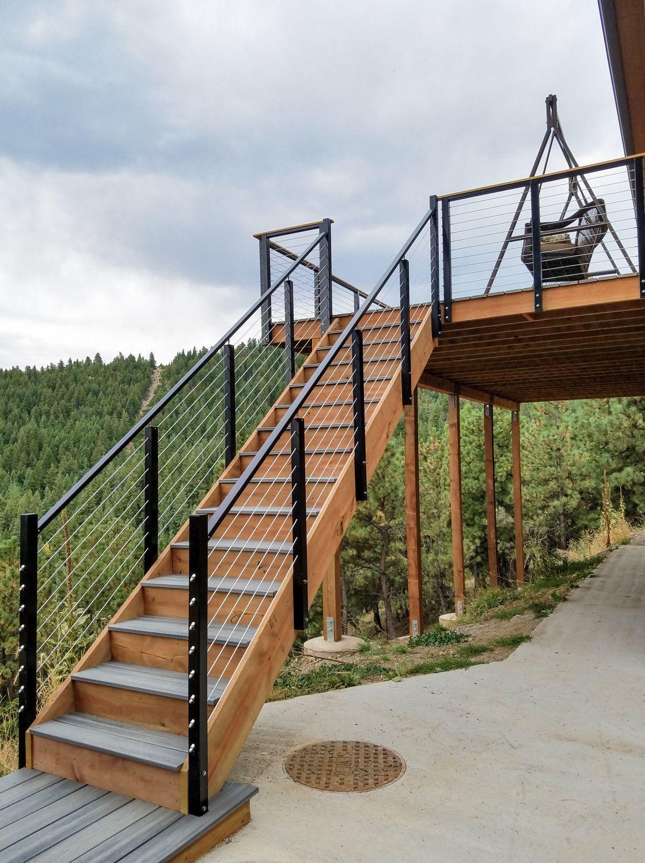 Best Cable Railing Post Fascia Mount Intermediate Outdoor 640 x 480