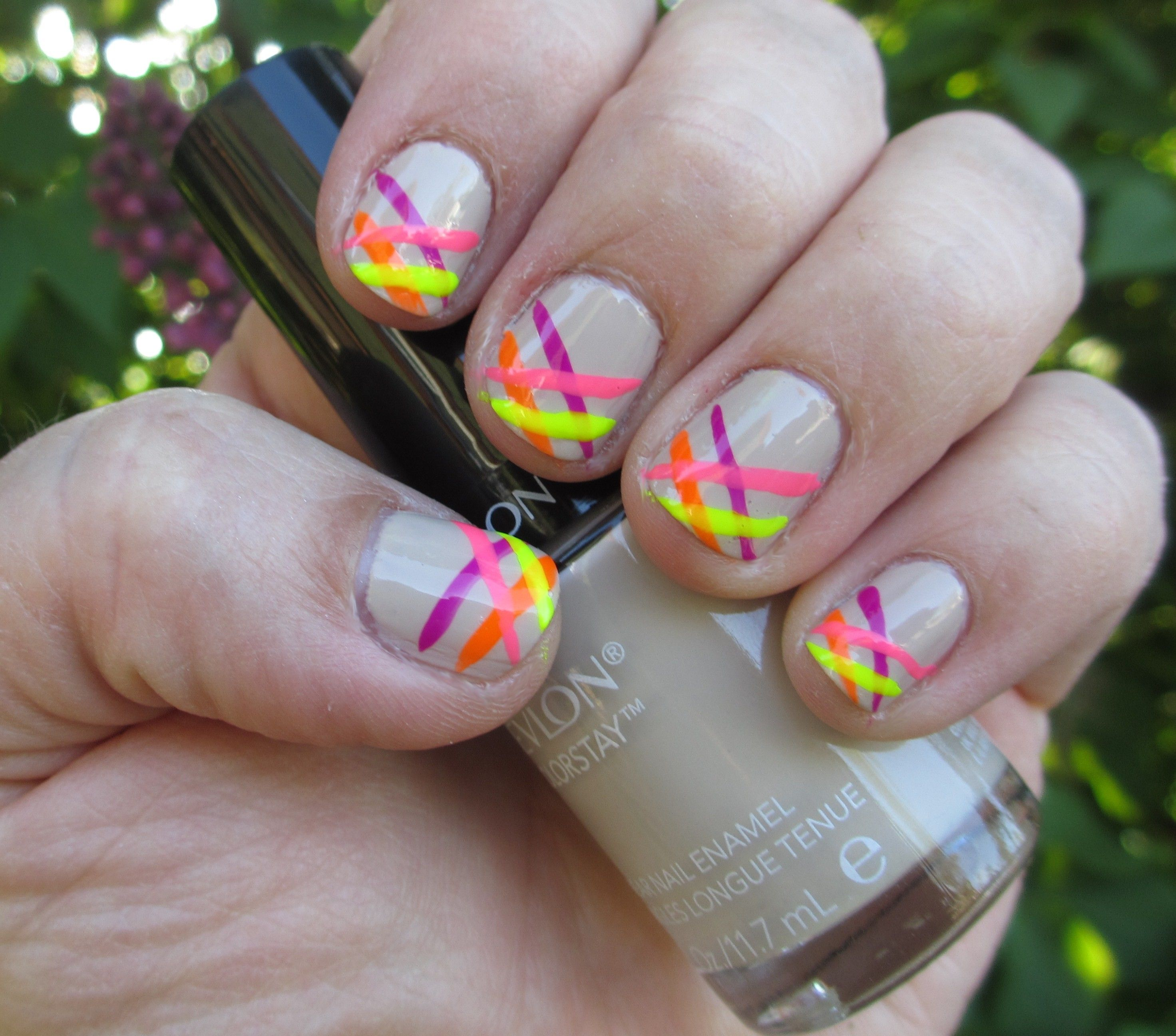 Neon and Nude. Watch the tutorial on my YouTube channel. | My Nail ...