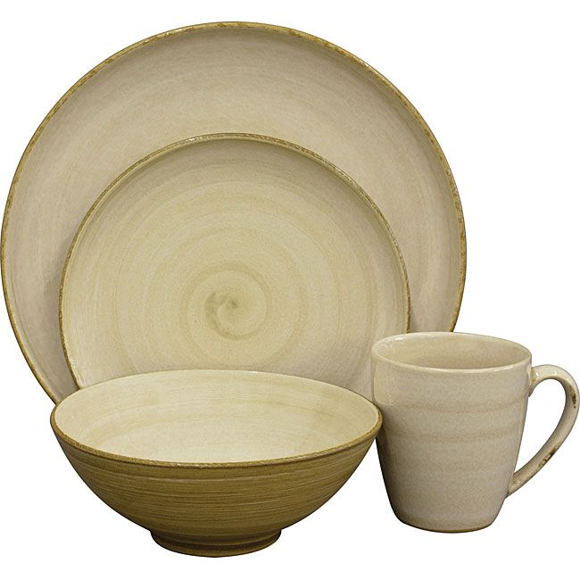 Sango Patio Cream 16 Piece Dinnerware Set By Sango