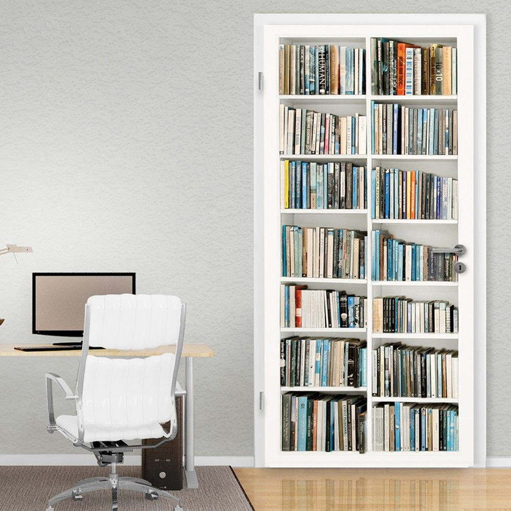 LIBRARY DOOR MURAL Amazing illusion for your interior