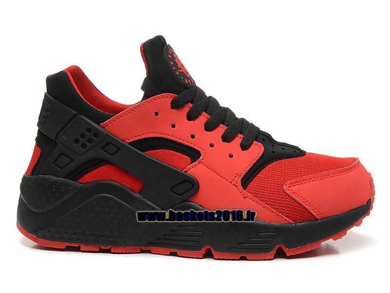 low priced c4e53 55bb4 Nike Air Huarache 1 Chaussures Nike Officiel Prix Pas Cher Pour Homme Noir  - Rouge