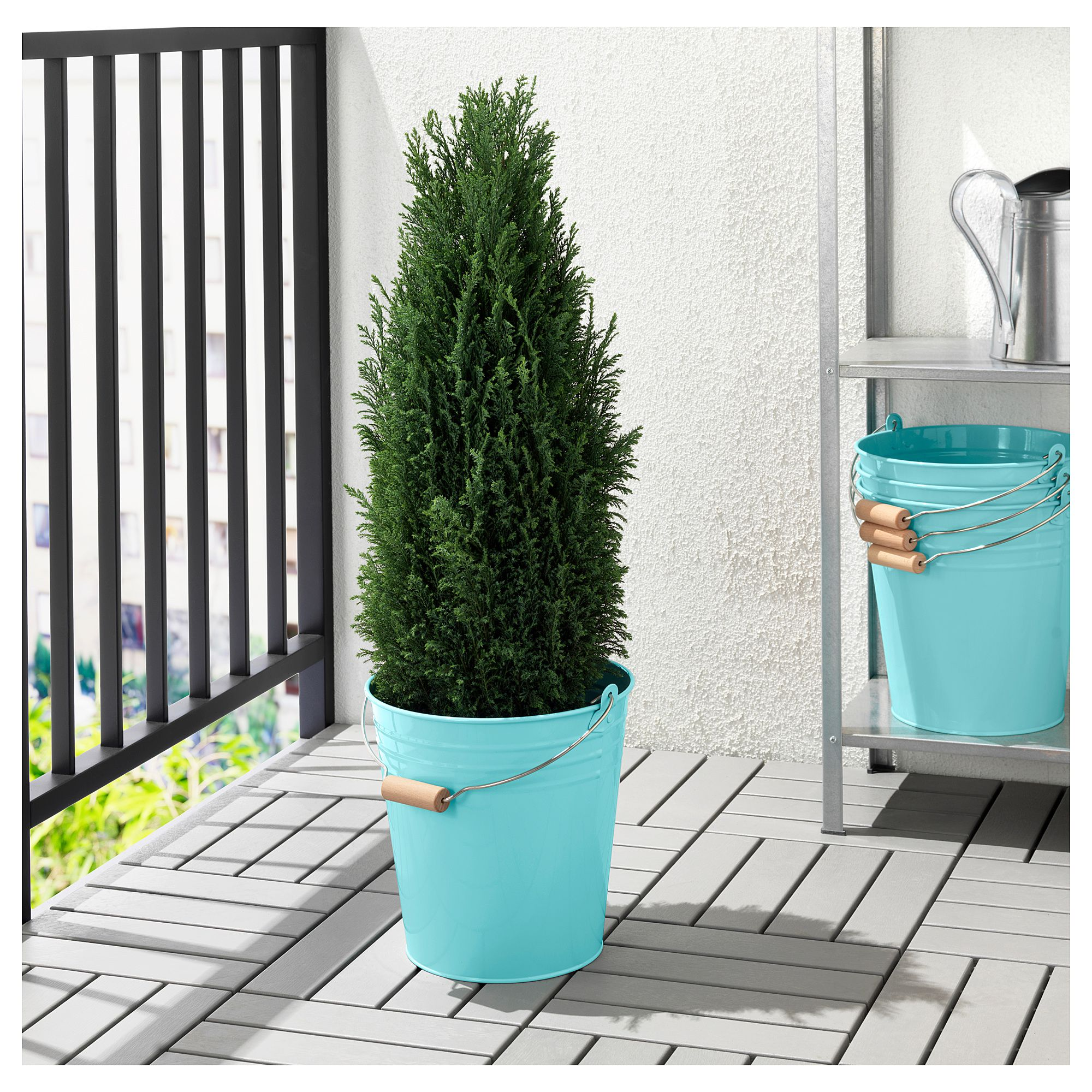 socker bucket/plant pot, indoor/outdoor, turquoise