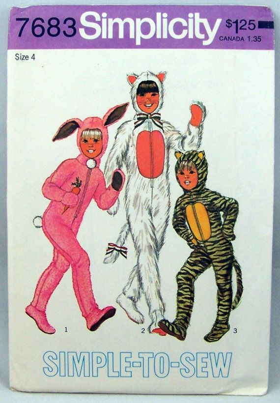 Vintage Simplicity 7683 Halloween Costume Rabbits by knightcloth ...