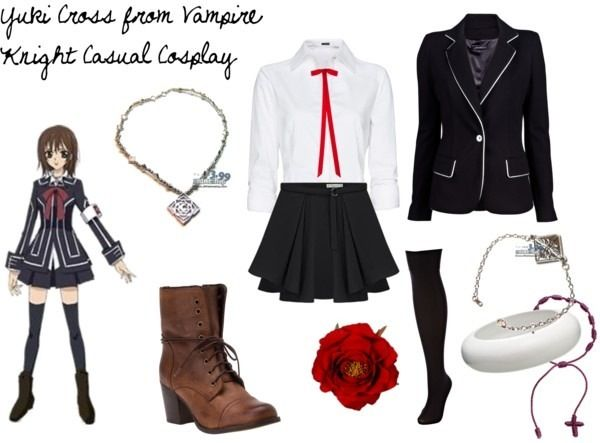 Vampire Knight Yuki Cross Kuran Halloween COSplay Costume Uniform Dress Outfit