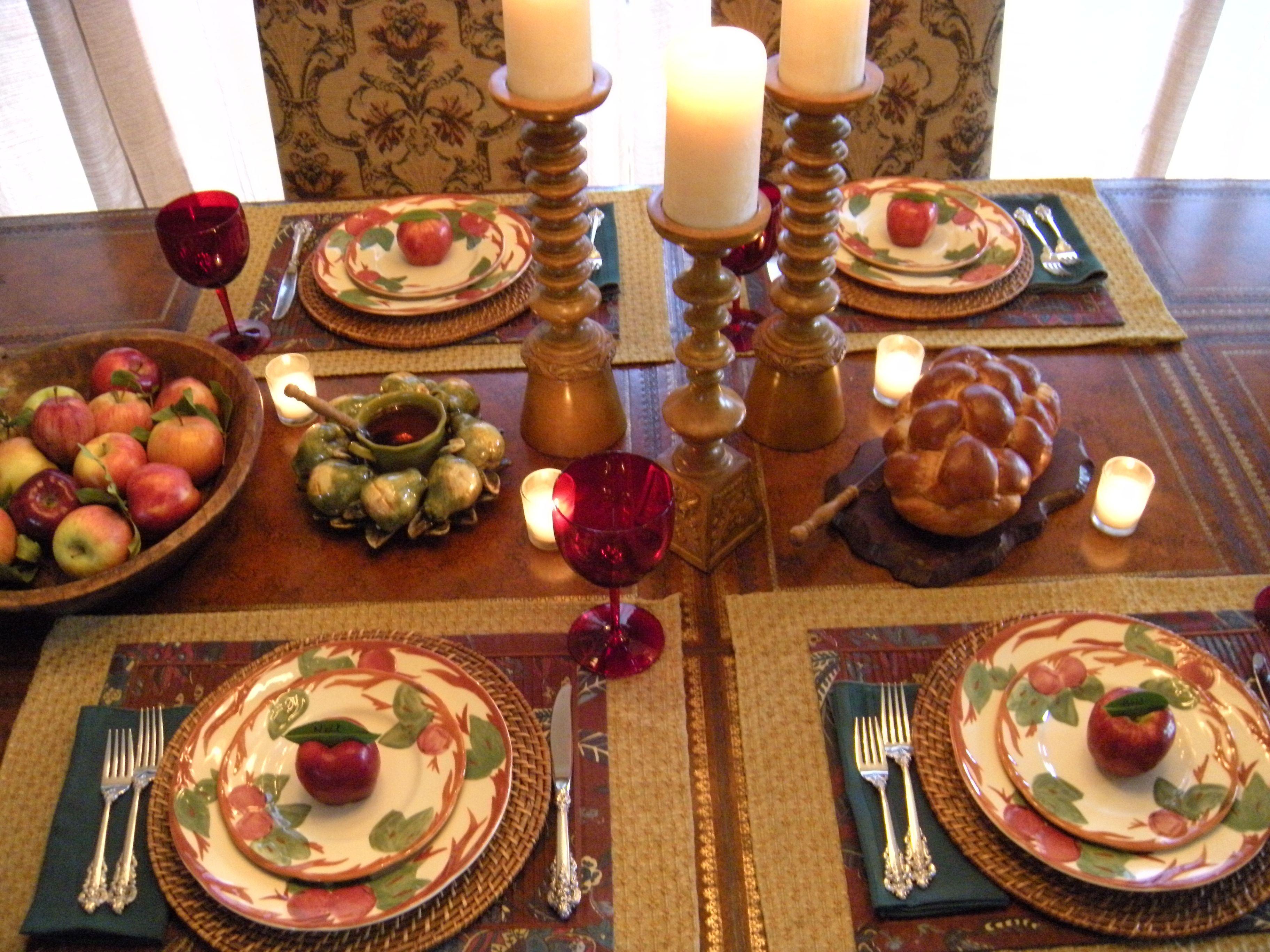 Apples Honey Table Perfect For Rosh Hashanah Jewish Holidays