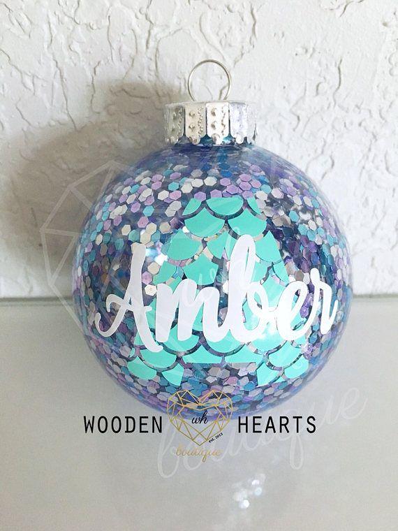 Mermaid, Mermaid Christmas Ornament, Personalized, Christmas ...