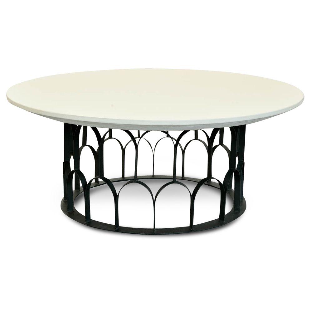 Gatsby 1m Round Coffee Table White Black Coffee Table White Round Coffee Table Round Coffee Table [ 1000 x 1000 Pixel ]