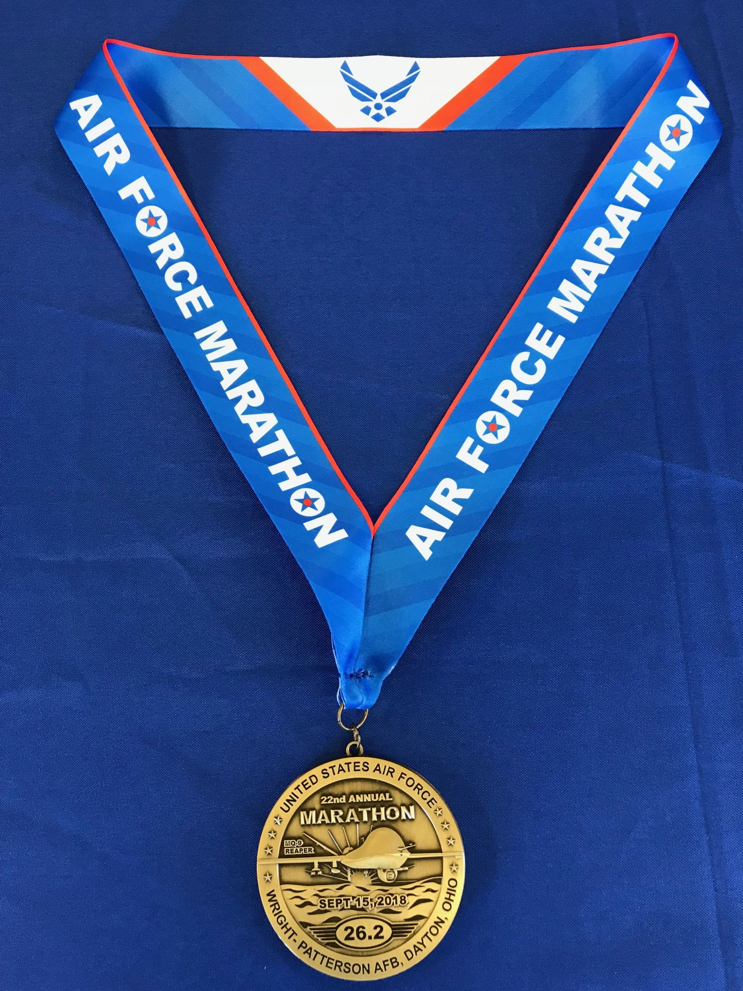 2018 Air Force Marathon Full Marathon Medal Air force