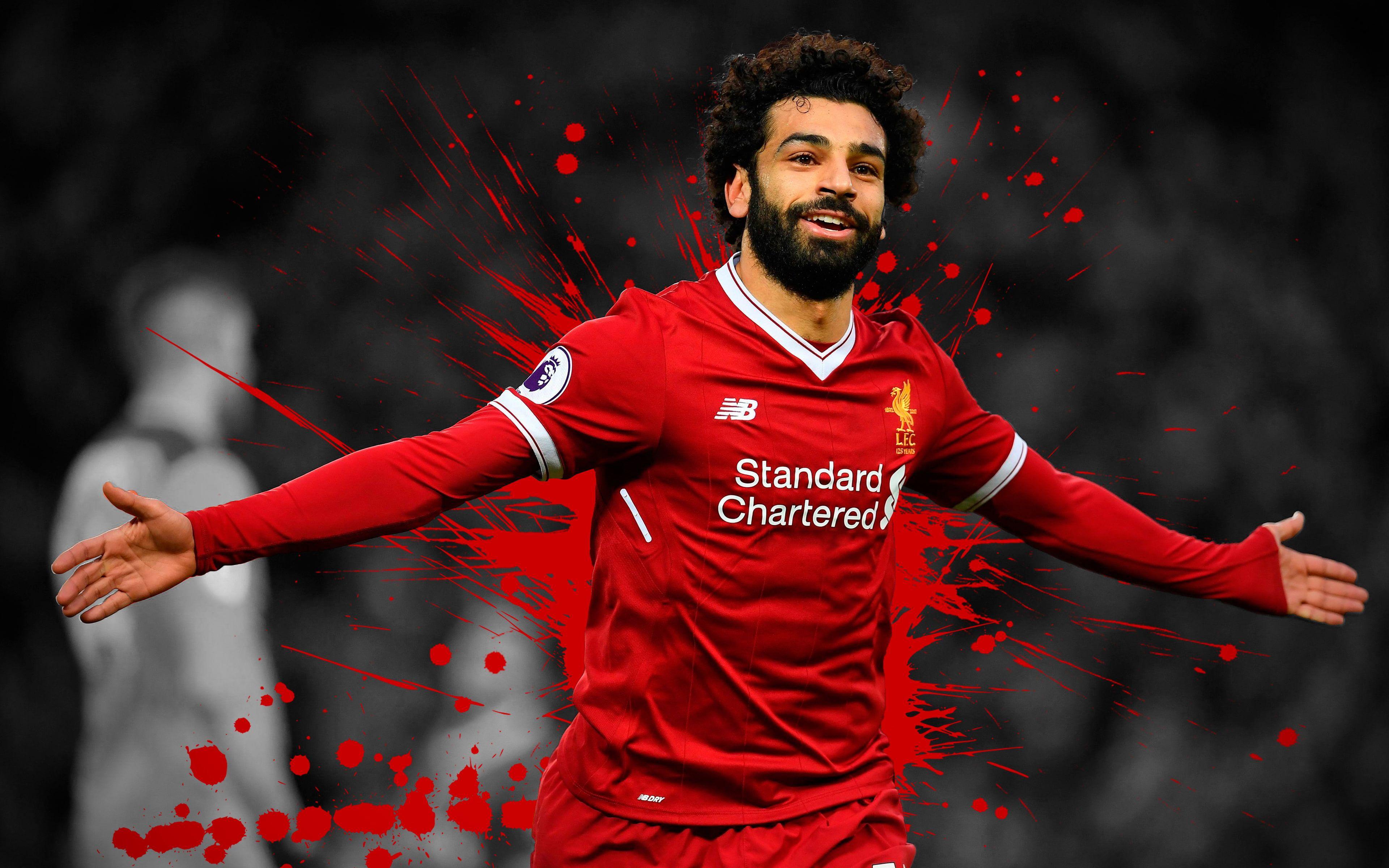 #Soccer Mohamed Salah Liverpool F.C. #4K #wallpaper