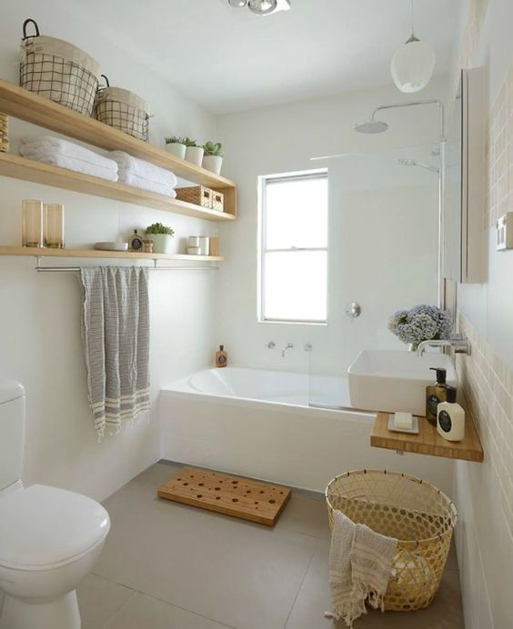 Pin by Maud Rgt on D&co   Rental bathroom, Guest toilet, Natural ...