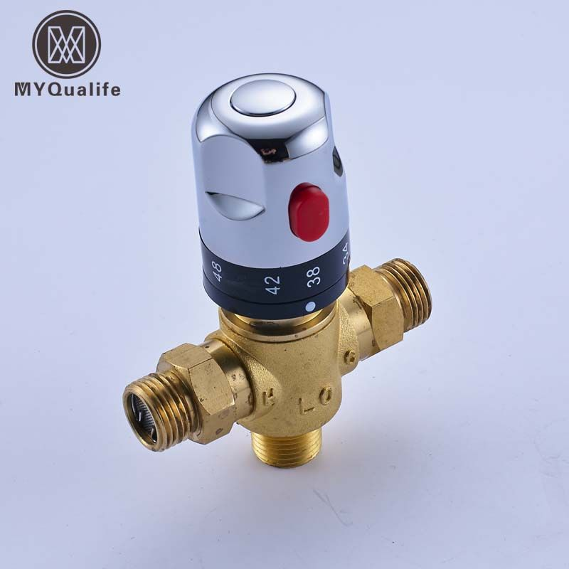 Promo Brass Luxury Thermostatic Mixing Valve Temperature Control