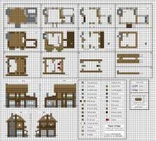 Minecraft floorplan small farmhouse by ColtCoyote on DeviantArt