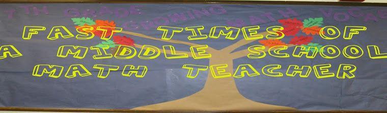 Blog: Fast Times of a Middle School Math Teacher. Written by a math teacher.