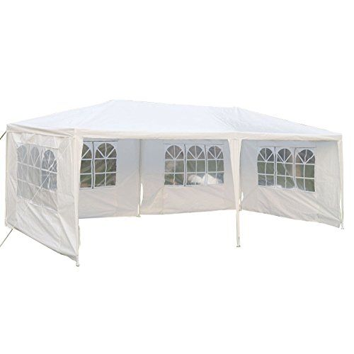 Tangkula 10x20 Wedding Tent 4 Walls With Window Bbq Party Outdoor Canopy Tent White Click Image For More Det Canopy Outdoor Canopy Tent Outdoor Canopy Tent
