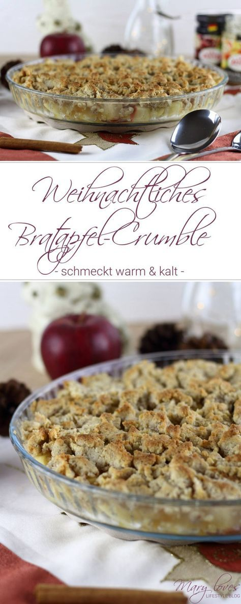 weihnachtliches bratapfel crumble nachtisch dessert. Black Bedroom Furniture Sets. Home Design Ideas