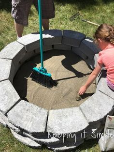 How to Build a DIY Fire Pit for Only $60 • Keeping it Simple #diyfirepit