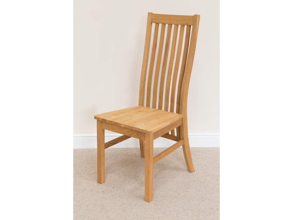 Lichfield Solid Oak Dining Chair With Timber Seat