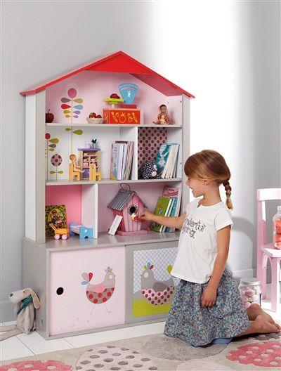 Estante casita vertbaudet madeira infantil pinterest - Estantes para guardar juguetes ...