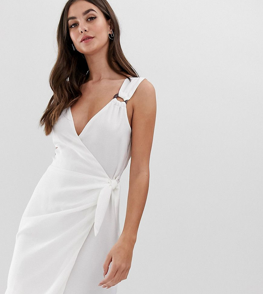Fashion Union Tall Wrap Dress With Wooden Ring Detail Tall Wrap Dress Wrap Dress Fashion Union [ 972 x 870 Pixel ]