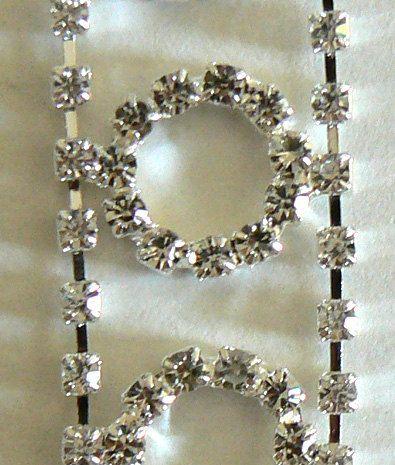 1 Foot Crystal Rhinestone Chain Bridal Belt Sash by jingjingdesign, $8.00