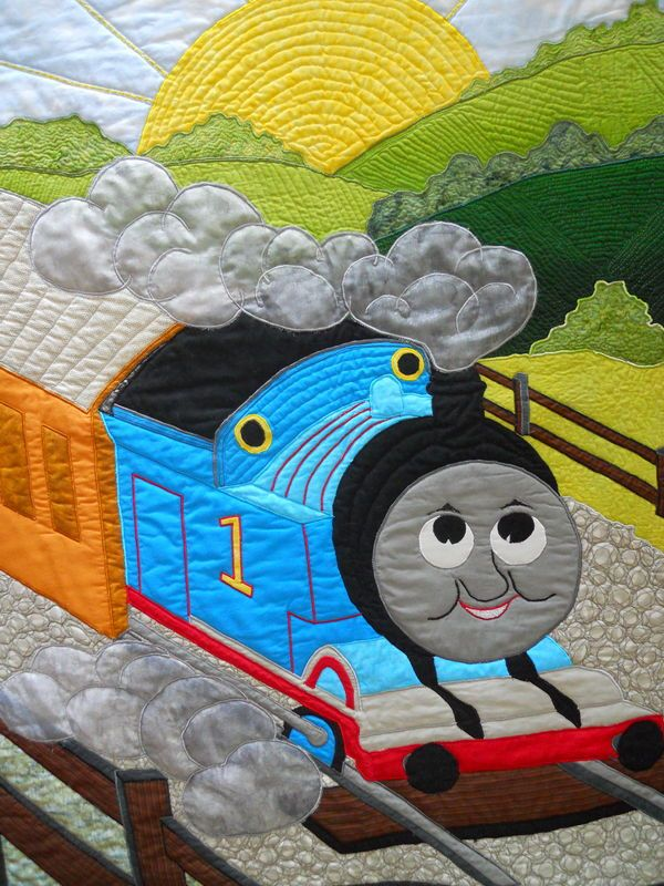 thomas the train quilt pattern | Thread: Thomas the Train | Quilts ... : thomas quilt - Adamdwight.com