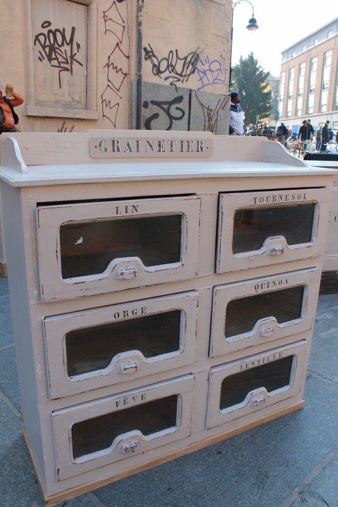 Mobile bancone da drogheria Graintier con cassetti in vetro nyy ...