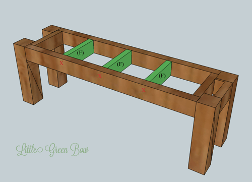 Step By Step Diy Dining Bench Plans Little Green Bow The Wannabe