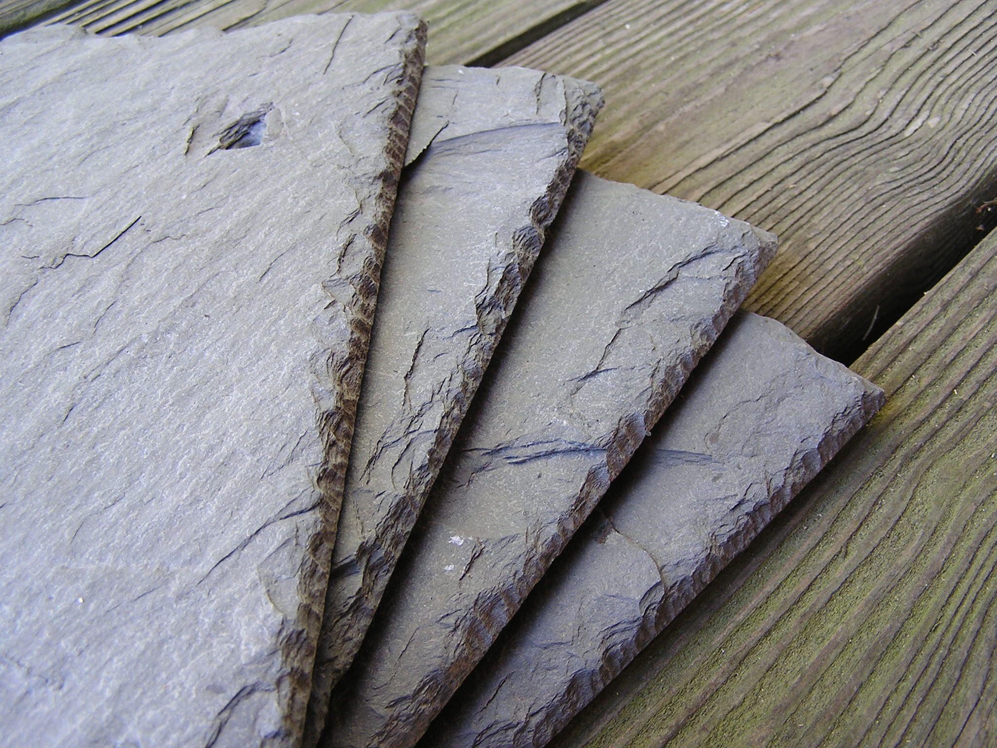 Four Pack Lot Package Of 4 Slate Tiles Shingles For Etsy In 2020 Slate Tile Slate Tiles