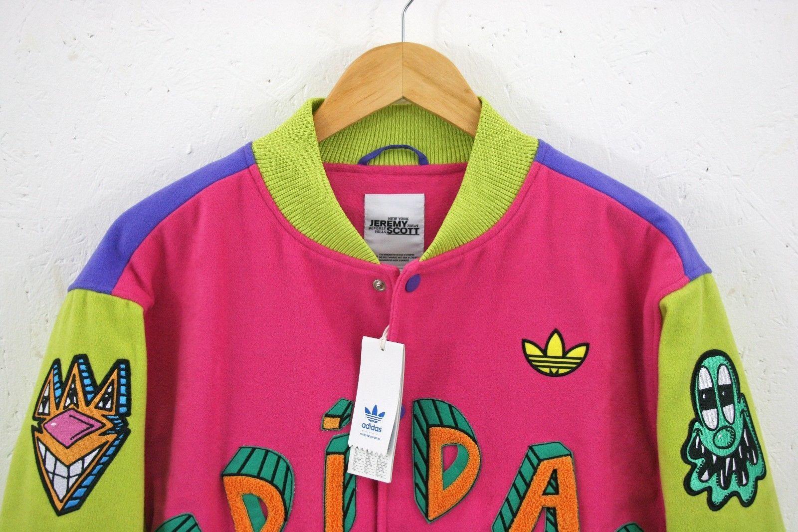 NEW Adidas x Jeremy Scott x Kenny Scharf mens KS VARSity JACKET Size S  Authentic  7326cff0604