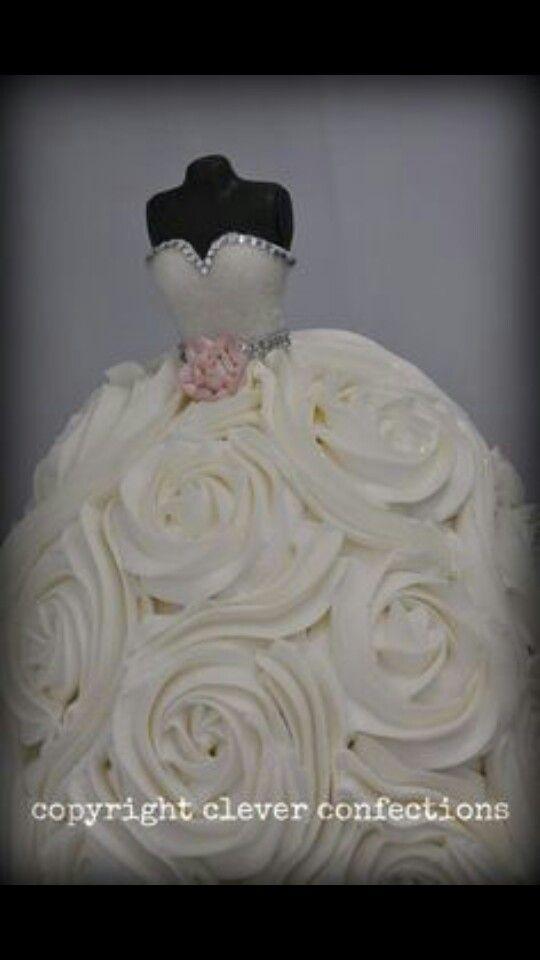 Wedding dress cupcake tower | Pretty Things | Pinterest | Wedding ...