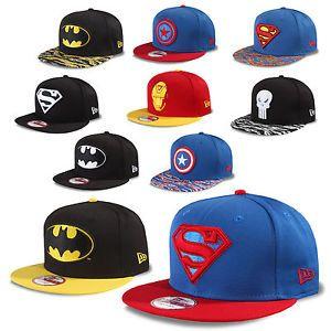 e699ef2507d New Era Cap 9fifty Snapback DC COMICS Marvel Batman Superman Punish Ironman