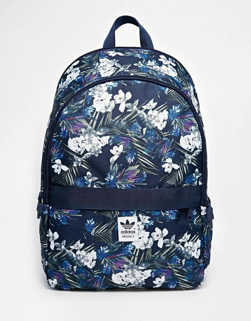 Image 1 of adidas Originals Backpack in Floral Print Adidas Rucksack 0deb9508c48a3