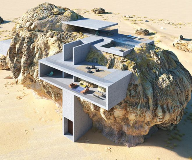 House Inside A Rock by Amey Kandalgaonkar Combines Ancient and Contemporary