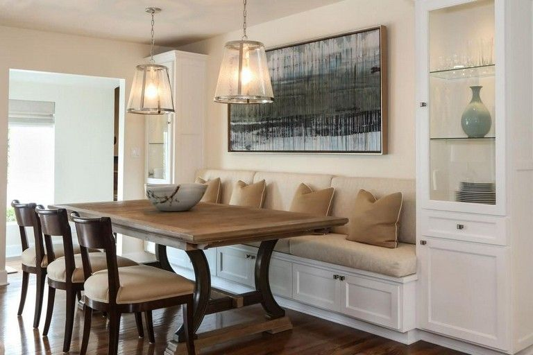 38+ Inspiring Transitional Dining Room Design Ideas images