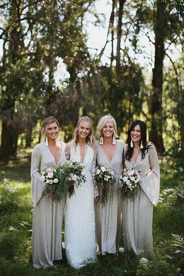 Bohemian Long Sleeves Bridesmaids Dresses Cool Earthy Pinterest Flower Bouquets Wedding Stuff And Weddings