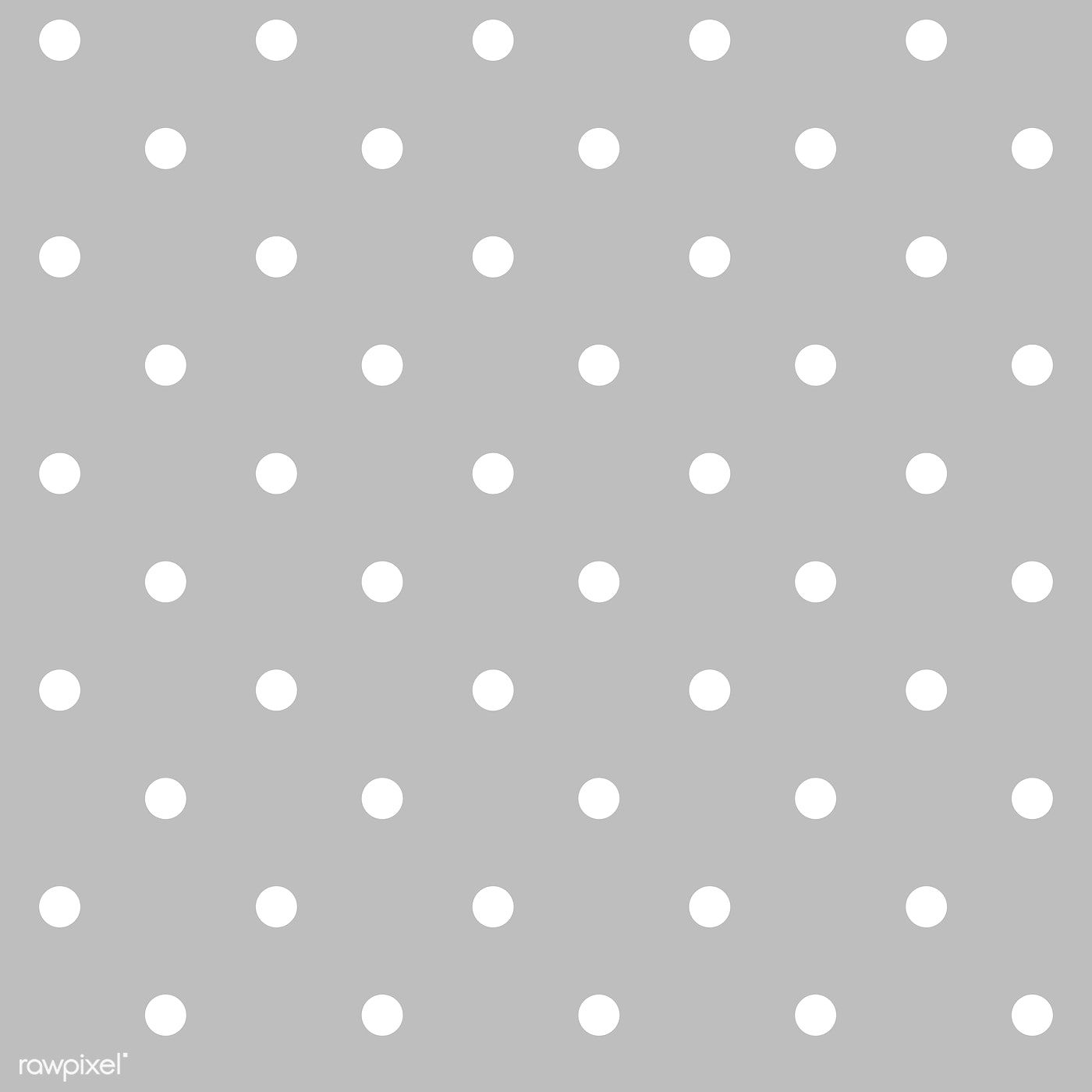 Gray And White Seamless Polka Dot Pattern Vector Free Image By Rawpixel Com Filmful Dot Pattern Vector Dots Polka Dot Pattern