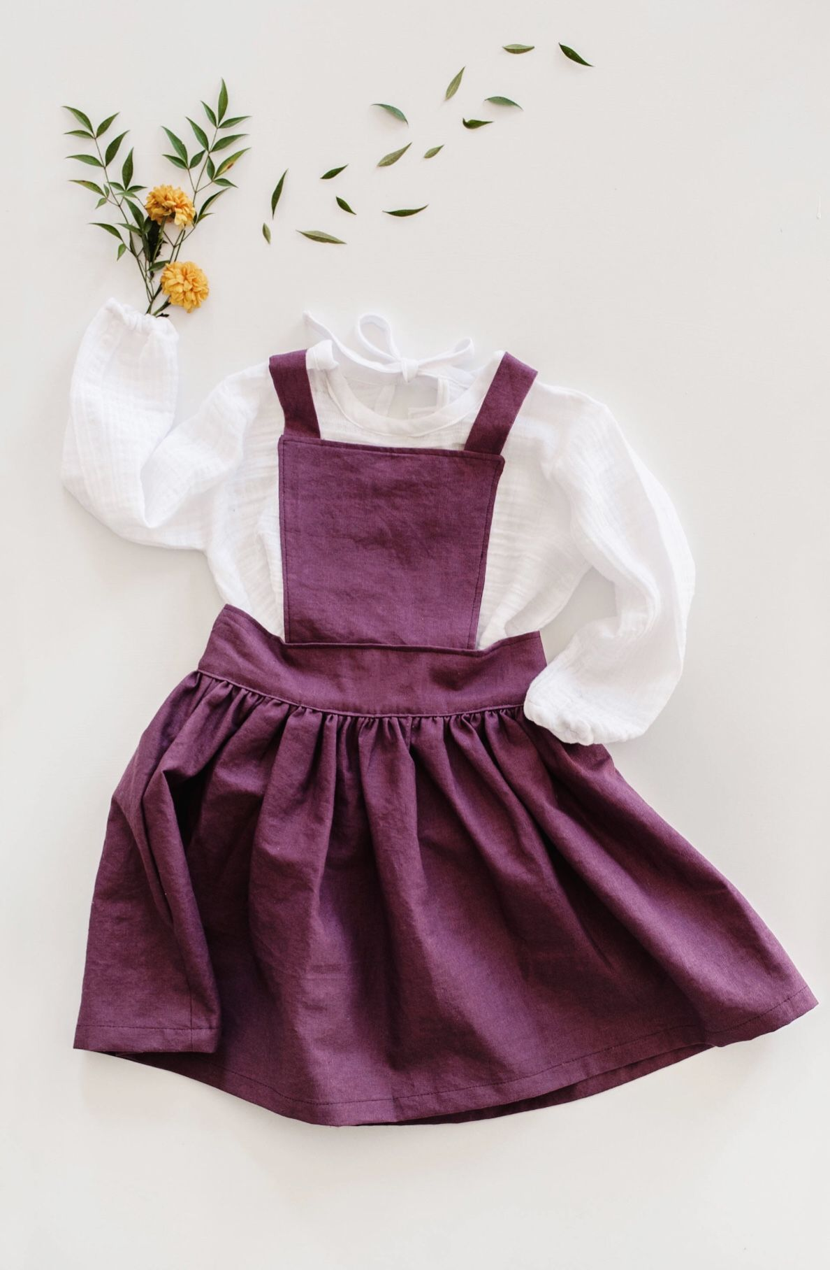 Beautiful Handmade Linen Pinafore Dress