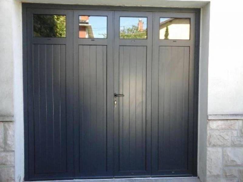 Porte De Garage Battante En Aluminium 3 Vantaux Ou 4 Vantaux