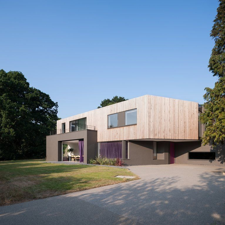 Wedge House, Thames Ditton, 2013 | Architecture | Pinterest | House