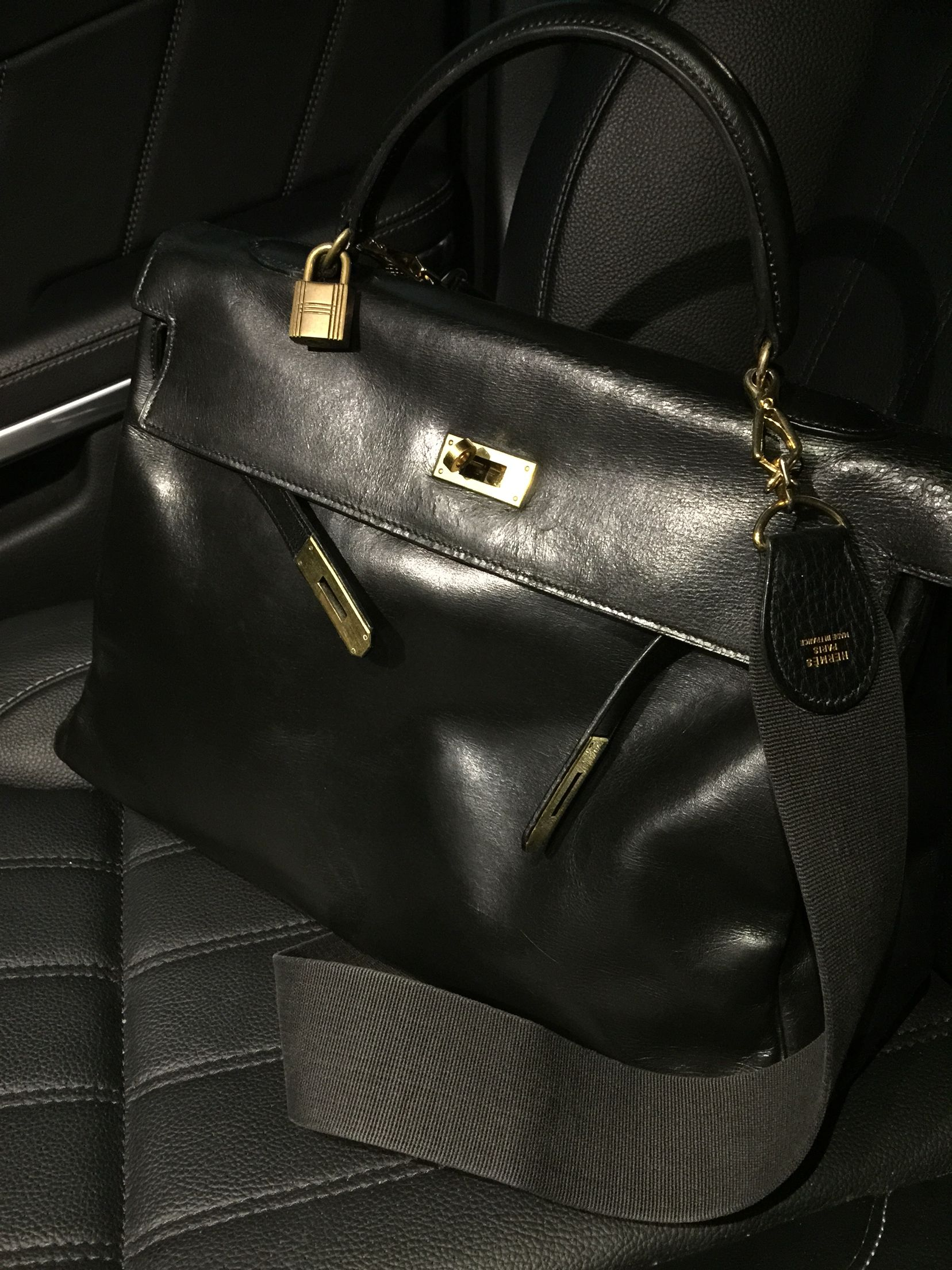 Vintage Hermes Kelly bag with canvas strap   Accessories Addict in ... 4819443737d