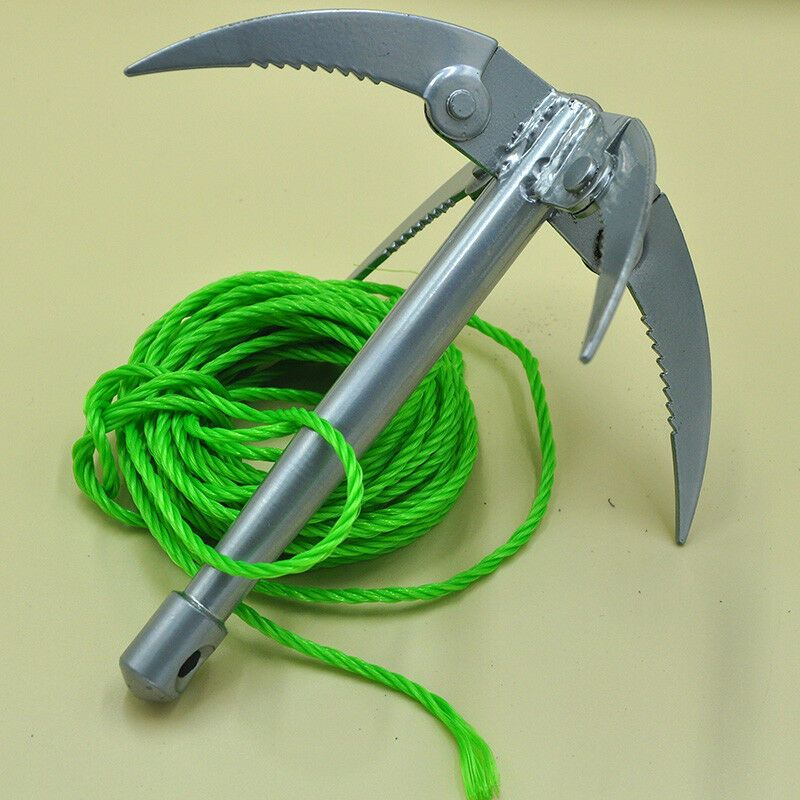Outdoor Tool Folding Boats Anchor Grappling Hook Rock Climbing Claw With Rope