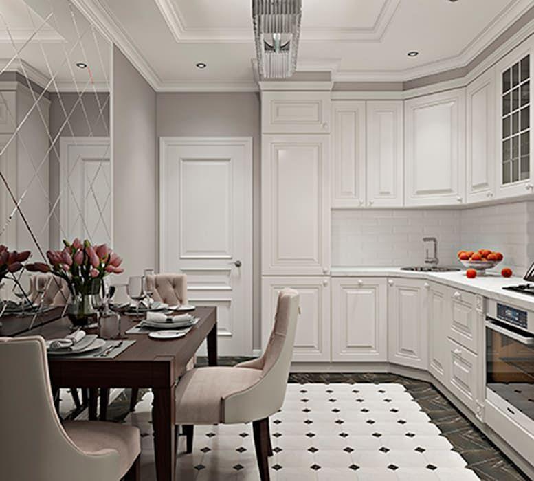 Дизайн двухкомнатной квартиры в стиле неоклассика: кухни в . автор – gm-interior, классический