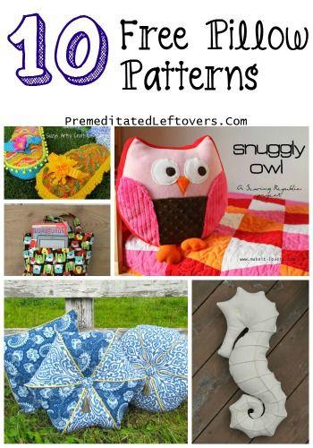 10 Free Pillow Patterns - Make fun pillow patterns that you can use ...